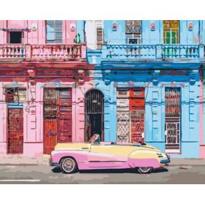 Старая Гавана Раскраска картина по номерам на холсте GX37556