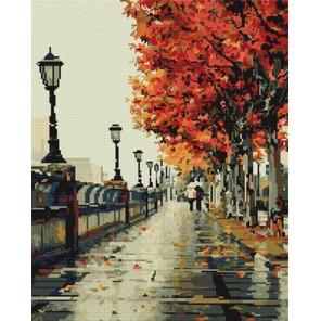 Осенний дождь Алмазная мозаика вышивка на подрамнике GF1861