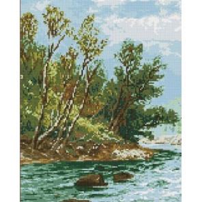 Речной пейзаж Алмазная мозаика вышивка на подрамнике GF3169