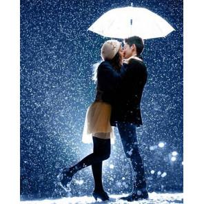 Поцелуй под дождем Алмазная мозаика вышивка на подрамнике GF3847
