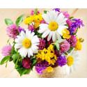 Букет полевых цветов Алмазная мозаика вышивка на подрамнике GF3890
