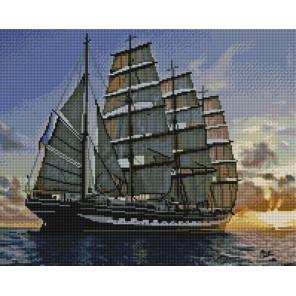 Утро в море Алмазная мозаика вышивка на подрамнике GF4323