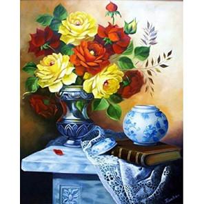 Цветочный натюрморт Алмазная мозаика вышивка на подрамнике GF4479