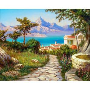 Городок на берегу Алмазная мозаика вышивка на подрамнике GF4514