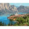 Городок у моря. Прищепа Раскраска картина по номерам на холсте Molly KH0978