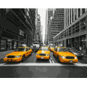 Желтое такси Нью-Йорка Раскраска картина по номерам на холсте Molly KH0968