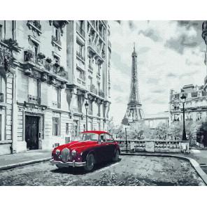 Авто на улице Парижа Раскраска картина по номерам на холсте Molly KH0965