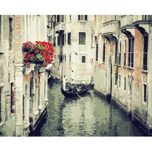 Улочки Венеции Раскраска картина по номерам на холсте Molly KH0969
