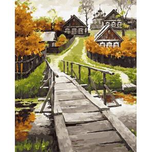 Сельский пейзаж Раскраска картина по номерам на холсте Molly KH0974