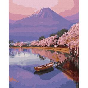Внешний вид коробки Озеро в Японии Раскраска картина по номерам на холсте Molly KH0975