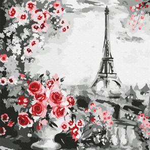 Париж Раскраска картина по номерам на холсте Molly KH0948