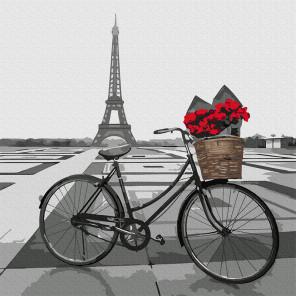 Из Парижа с любовью Раскраска картина по номерам на холсте Molly KH0949