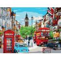 Яркий Лондон Раскраска картина по номерам с цветной схемой на холсте Molly KK0956