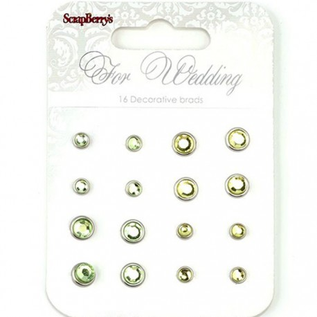 Желто-зеленый Набор хрустальных брадсов Свадьба Scrapberry's