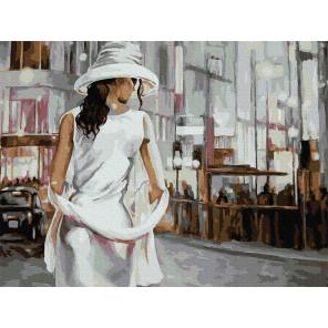 Незнакомка Раскраска картина по номерам с цветной схемой на холсте Molly KK0679
