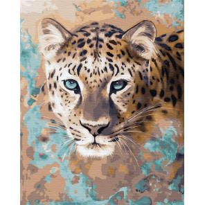 Голубоглазый гепард Раскраска картина по номерам на холсте ZX 23301