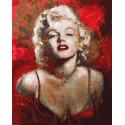 Мэрилин Монро в красном платье Раскраска картина по номерам на холсте ZX 23313