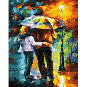 Под золотым зонтом Раскраска картина по номерам на холсте ZX 23297