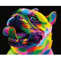 Радужный мопс Раскраска картина по номерам на холсте ZX 23272