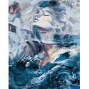Морская русалка Раскраска картина по номерам на холсте ZX 23623