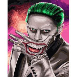Улыбка Джокера Раскраска картина по номерам на холсте ZX 23912