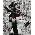 Черно-белая Квинн Раскраска картина по номерам на холсте ZX 23909