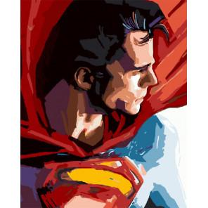 Супермэн Раскраска картина по номерам на холсте ZX 20361