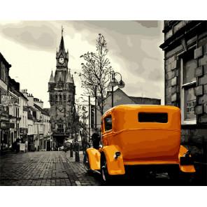 Ретро такси Раскраска картина по номерам на холсте ZX 20555
