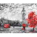Серый Лондон Раскраска картина по номерам на холсте ZX 20773