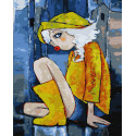 Желтый дождевик Раскраска картина по номерам на холсте ZX 23315