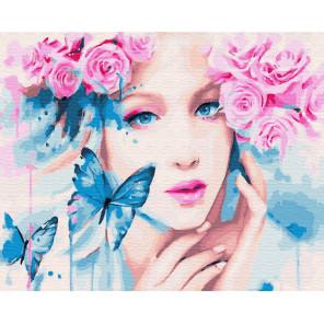 Розовый венок Раскраска картина по номерам на холсте ZX 22946