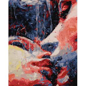 Робкий поцелуй Раскраска картина по номерам на холсте ZX 22601