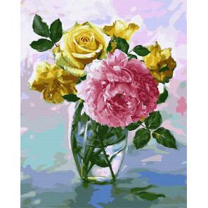 Цветочное настроение в хрустале Раскраска картина по номерам на холсте ZX 23583