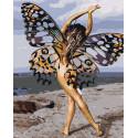 Девушка-бабочка Раскраска картина по номерам на холсте AAAA-RS068-100x125