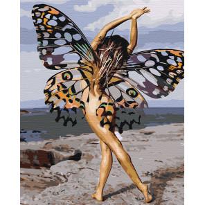 Девушка-бабочка Раскраска картина по номерам на холсте AAAA-RS068
