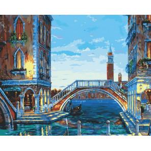 Каналы Венеции Раскраска картина по номерам на холсте 624-AB