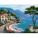 Морской пейзаж Раскраска картина по номерам на холсте EX5219