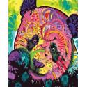 Цветная панда Раскраска картина по номерам на холсте GX30396