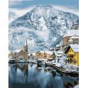 Мощь зимних гор Раскраска картина по номерам на холсте GX36616