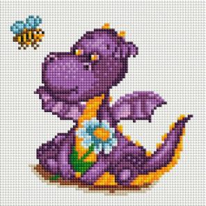 Маленький динозаврик Алмазная мозаика на подрамнике 565-ST-S