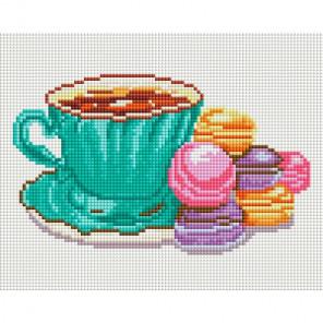 Кофе и макаруны Алмазная мозаика на подрамнике 576-ST-S