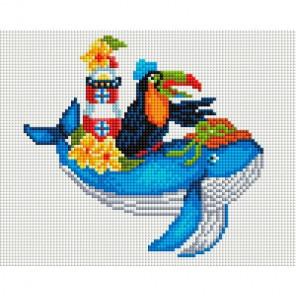 Синий кит Алмазная мозаика на подрамнике 579-ST-S