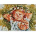 Рыжая влюблённая 30х40 см Алмазная мозаика на подрамнике ACPK59009