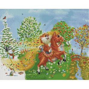На коне 40х50 см Алмазная мозаика на подрамнике APK76001