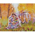 Время двоих: ноябрь/Под пледом 40х50 см Алмазная мозаика на подрамнике APK59007