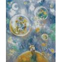 Двое/ Цветущие сады 40х50 см Алмазная мозаика на подрамнике APK59001