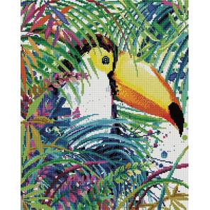 Попугай тукан 40х50 см Алмазная мозаика на подрамнике APK22053