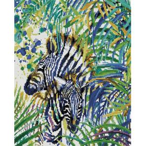 Зебра в тропиках 40х50 см Алмазная мозаика на подрамнике APK22052