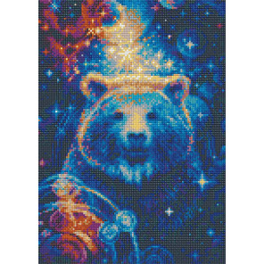 Пример оформления в рамку Большая медведица Алмазная вышивка мозаика Риолис АМ0050