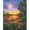 Летний закат Набор для вышивания Овен 1356